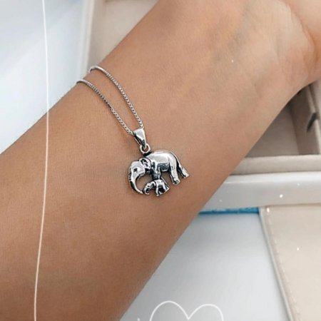Colar Prata Elefante