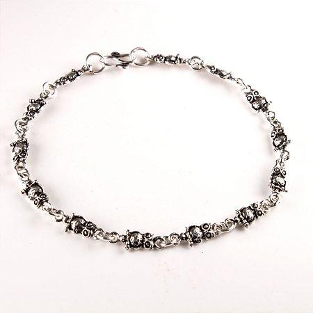 Pulseira prata coruja