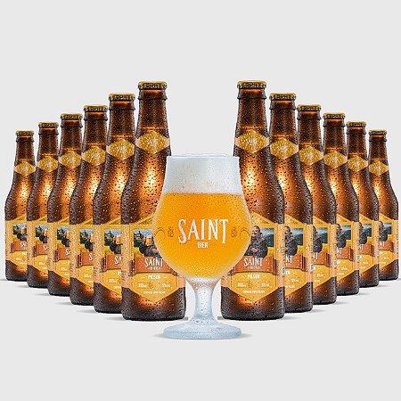Combo 12 unidades Saint Bier Pilsen 355ml - Ganhe 1 taça