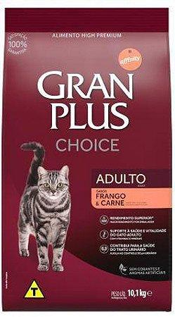 Ração Gran Plus Choice Gatos Adultos Frango e Carne 10,1kg