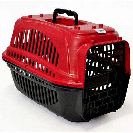 Caixa De Transporte Para Cães e Gatos Tamanho N1 - Vermelho