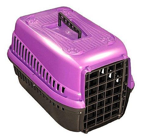 Caixa  De Transporte Para Cães Gatos N2 - Lilás