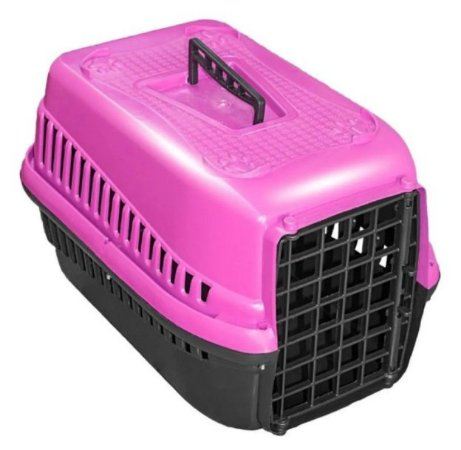 Caixa De Transporte Para Cães Gatos N2 - Rosa