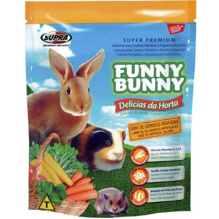 Ração Funny Bunny Delícias da Horta Para Coelhos e Outros Pequenos Roedores