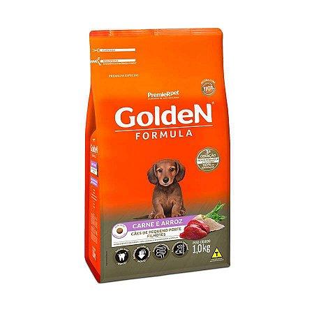 Ração Golden Fórmula Mini Bits Para Cães Filhotes Sabor Carne e Arroz