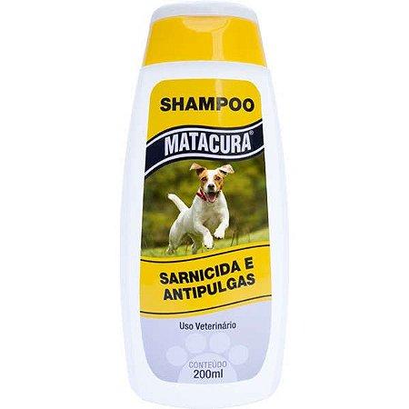 Shampoo Matacura Sarnicida e Antipulgas para Cães 200ml