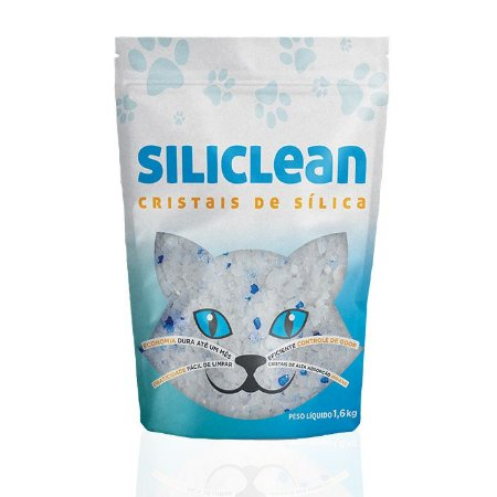 Areia Siliclean Sílica Gel Regular Para Gatos 1,6kg
