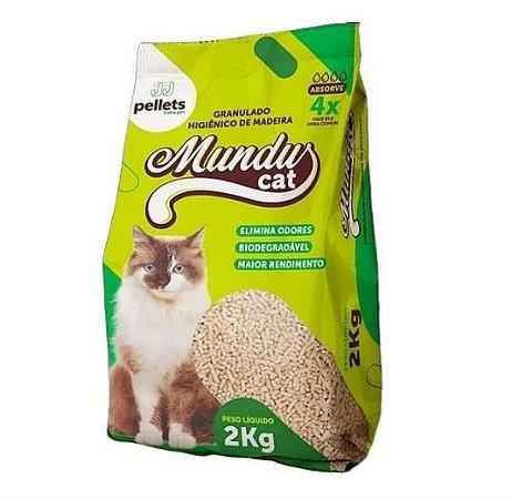 Granulado Higiênico de Madeira Mundus Cat 2kg