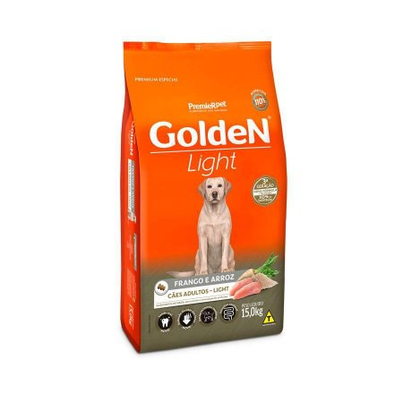 Ração Golden Fórmula Light para Cães Adultos 15kg