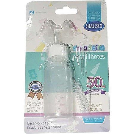 Mamadeira para Filhotes Cães e Gatos Chalesco - 50 ml