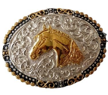 Fivela Para Cinto Country De Zamac Cabeça de Cavalo 11406