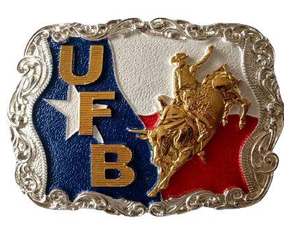 Fivela Para Cinto Country De Zamac UFB Bandeira 11234