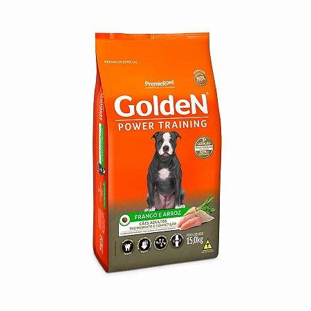 Ração Golden Power Training para Cães Adultos Frango e Arroz - 15kg