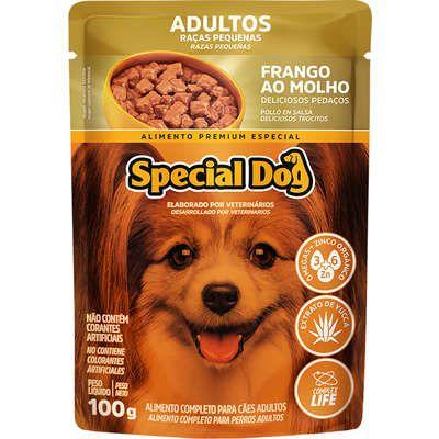 Ração Úmida Special Dog Sachê Frango para Cães Raças Pequenas 100g
