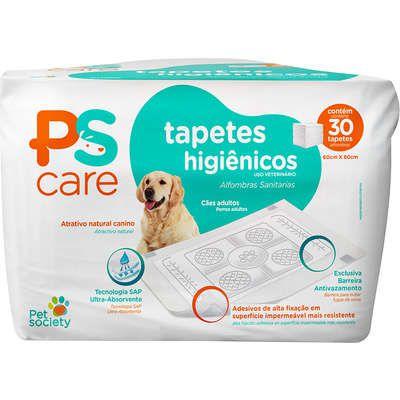 Tapete Higiênico Pet Society PS Care para Cães Adultos 30 unidades