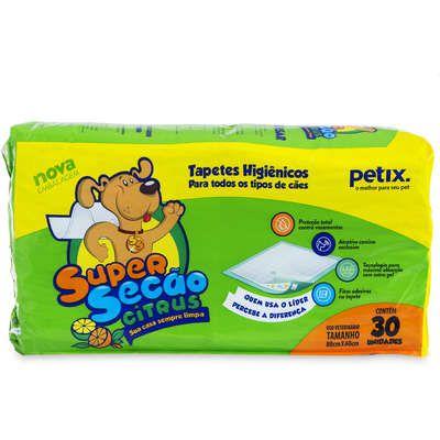 Tapete Higiênico Super Secão Petix Citrus 30 Unidades