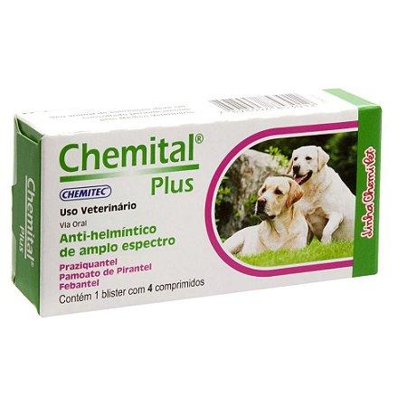 Chemital Plus para Cães com 4 comprimidos Chemitec