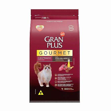 Ração GranPlus Gourmet para Gatos Castrados Sabor Ovelha 10kg