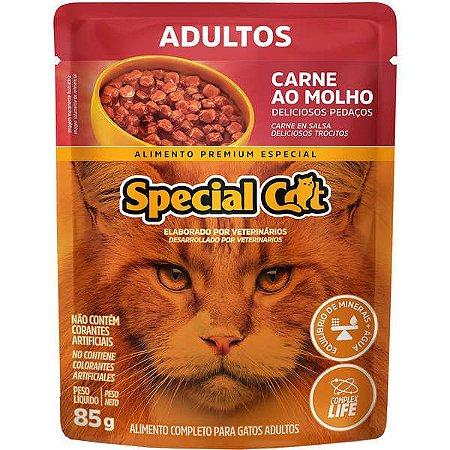 Ração Úmida Special Cat Sache Carne para Gatos Adultos 85g
