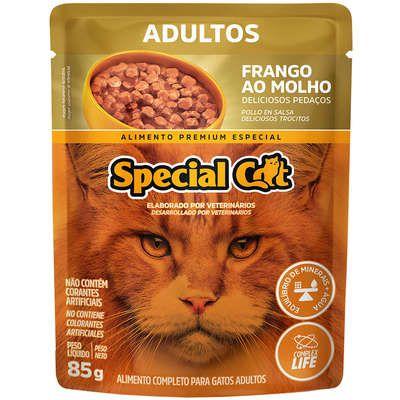 Ração Úmida Special Cat Sache Frango para Gatos Adultos 85g