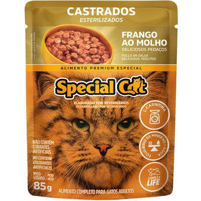Ração Úmida Special Cat Sache Frango para Gatos Castrados 85g