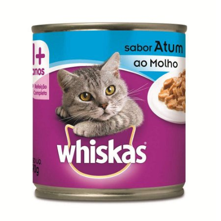 Ração Úmida Whiskas Lata Atum ao Molho para Gatos Adultos - 290 g