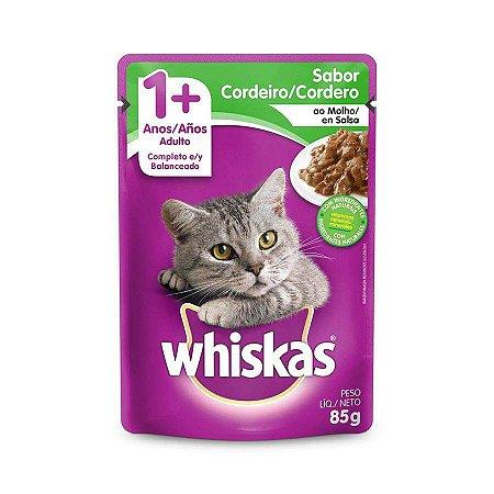 Ração Úmida Whiskas Sache Cordeiro ao Molho para Gatos Adultos