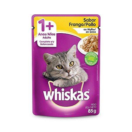 Ração Úmida Whiskas Sache para Gatos Adultos Sabor Frango ao Molho