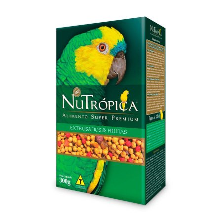 Ração Nutrópica para Papagaio Sabor Frutas 300g