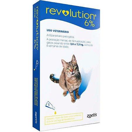 Antipulgas e Carrapatos Zoetis Revolution para Gatos de 2,5 a 7,5 kg