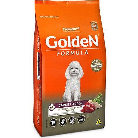 Ração Golden  Mini Bits Para Cães Adultos  Carne e Arroz