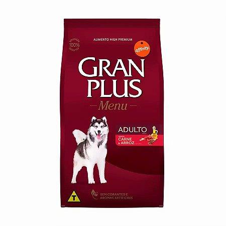 Ração Granplus Menu para Cães Adultos sabor Carne e Arroz