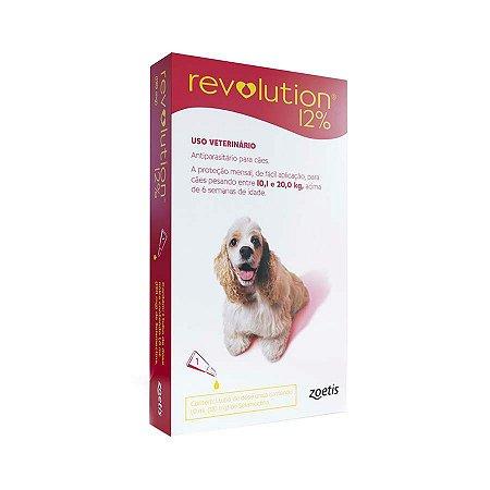 Antipulgas e Carrapatos Zoetis Revolution para Cães de 10 a 20 Kg