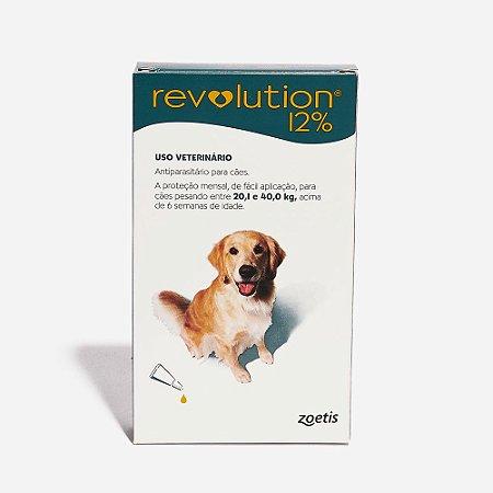 Antipulgas e Carrapatos Zoetis Revolution para Cães de 20 a 40 kg