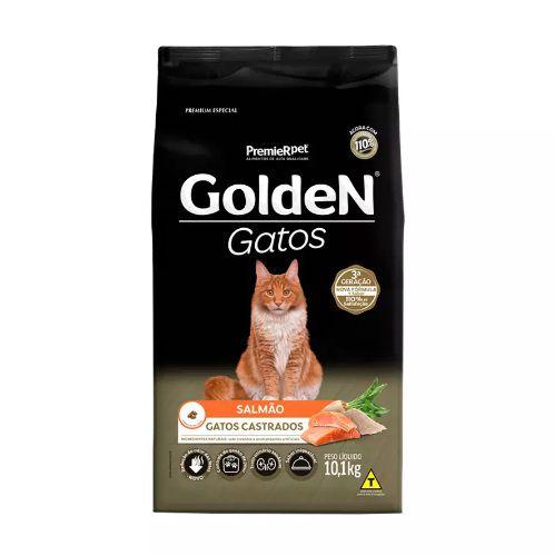 Golden Gatos Adultos Castrados Sabor Salmão