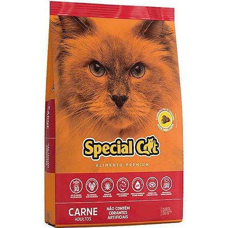 Ração Special Cat Premium Carne para Gatos Adultos
