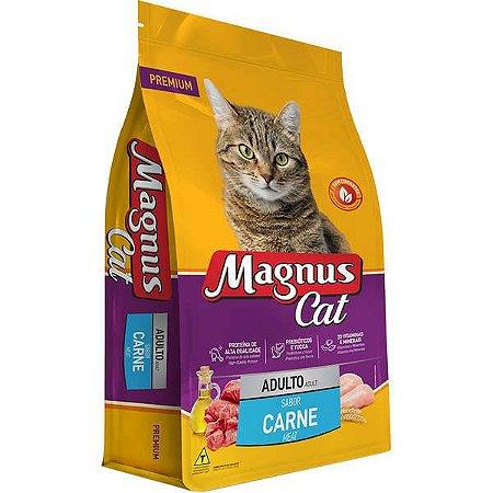 Ração Magnus Cat Premium Carne para Gatos Adultos 25kg