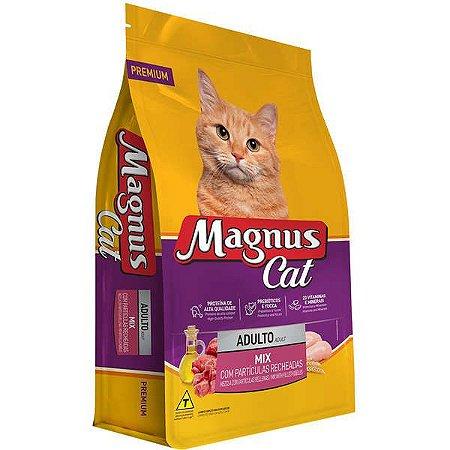 Ração Magnus Cat Mix com Partículas Recheadas para Gatos Adultos
