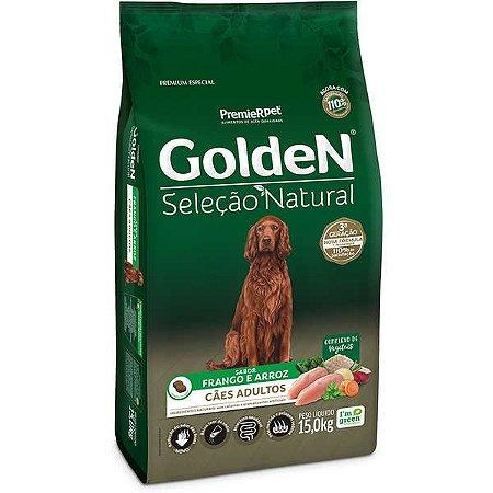 Ração Golden Seleção Natural para Cães Adultos Sabor Frango 15kg