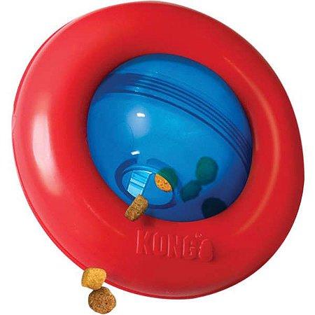 Brinquedo Kong Puzzle Gyro Vermelho e Azul para Cães