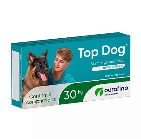 Vermífugo Ourofino Top Dog Para Cães 30kg