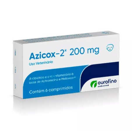 Azicox 2 Ourofino 200mg 6 Comprimidos