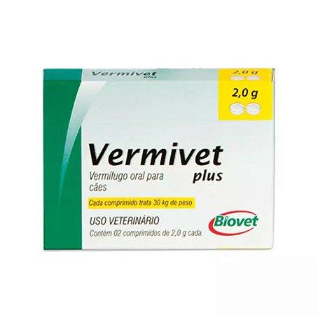 Vermífugo Biovet para Cães Vermivet Plus 2.0g 30kg
