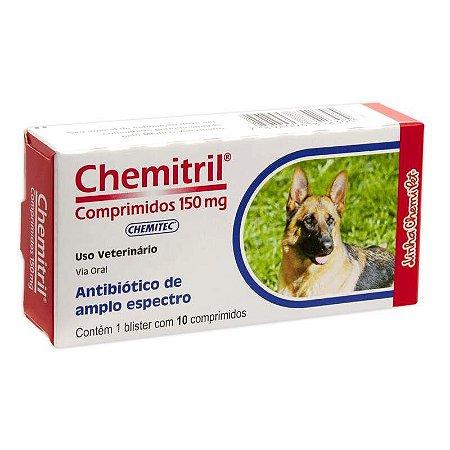 Medicamento Chemitril para Cães e Gatos - 10 Comprimidos