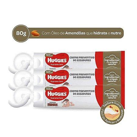 KIT 3 CREMES ANTIASSADURA HUGGIES ÓLEO DE AMÊNDOAS