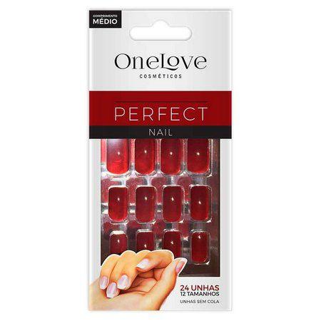 UNHA POSTIÇA SEM COLA ONE LOVE PERFECT NAIL RED ONE SC - 5060