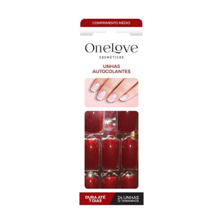 UNHA DE GEL AUTOCOLANTE ONE LOVE RED PASSION - 3538