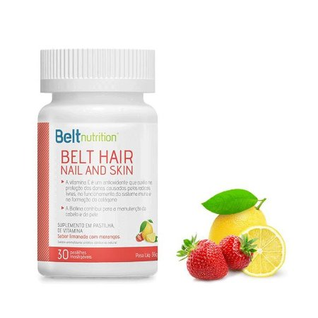 VITAMINA HAIR NAIL AND SKIN BELT LIMONADA COM MORANGOS - 9696