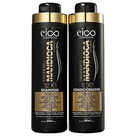 KIT EICO SHAMPOO + CONDICIONADOR DE MANDIOCA 800ml - 6671