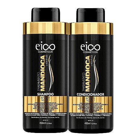 KIT EICO SHAMPOO + CONDICIONADOR DE MANDIOCA 450ml - 6695